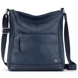 The Sak Lucia Leather Crossbody Bag - Navy